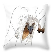 J Is For Joey Throw Pillow