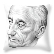 Jacques-yves Cousteau Throw Pillow
