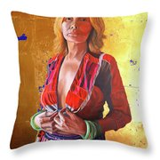 Jade Lady  Life On The Edge Throw Pillow