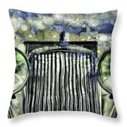 Jaguar Car Van Gogh Throw Pillow