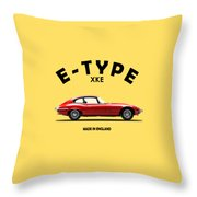 Jaguar E Type Throw Pillow