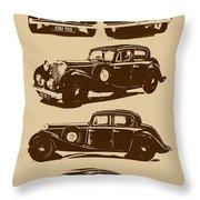 Jaguar Mark Iv Ss 2.5 Saloon Throw Pillow