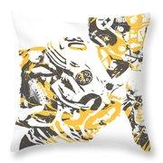 James Connor Pittsburgh Steelers Pixel Art 3 Throw Pillow