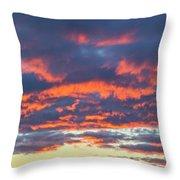 January Sunset - Vertirama 3 Throw Pillow