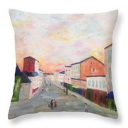 Japanese Colorful And Spiritual Nuance Of Maurice Utrillo Throw Pillow