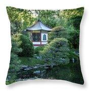 Japanese Garden #4 - Island Pagoda Vertical Throw Pillow
