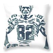 Jason Witten Dallas Cowboys Pixel Art 22 Throw Pillow
