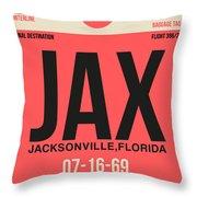 Jax Jacksonville Luggage Tag I Throw Pillow
