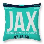 Jax Jacksonville Luggage Tag II Throw Pillow