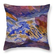 Jay Cooke Favorite Spot In Purple And Tan Throw Pillow