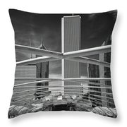 Jay Pritzker Pavilion Infrared Throw Pillow