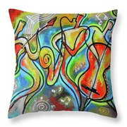 Jazz-swing Throw Pillow