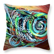 Jazzy Fish Trying For Busk At Dusk Throw Pillow