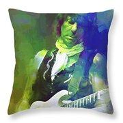 Jeff Beck, Love Is Green Throw Pillow