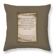 Jeremiah 29 11 Throw Pillow