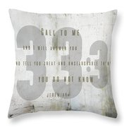 Jeremiah 33 Unsearchable Throw Pillow