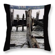 Jersey Broken Wharf II Throw Pillow