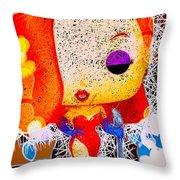 Jessica Rabbit Pop Throw Pillow by Al Matra