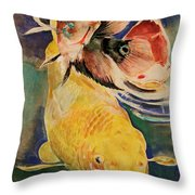 Jewels In Waters Throw Pillow