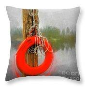 Jim Bouys Pole Throw Pillow