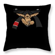 Jiu Jitsu Bjj Sloth Black Belt Light Throw Pillow