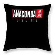 Jiu Jitsu Black Belt Anaconda Light Gift Martial Arts Bjj Throw Pillow