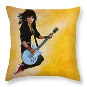 Joan Jett Throw Pillow