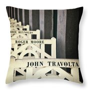 John Travolta In Deauville Throw Pillow