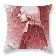 John Wesley, Anglican Minister And Christian Theologian Throw Pillow