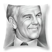 Johnny Carson 14sep18 Throw Pillow
