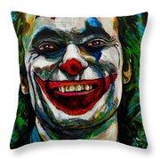 Joker Joaquin Phoenix Throw Pillow