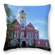 Jones County Court House - Gray, Georgia Throw Pillow