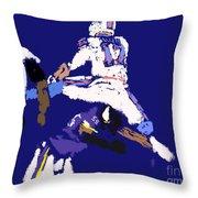 Josh Allen Hurdle Throw Pillow