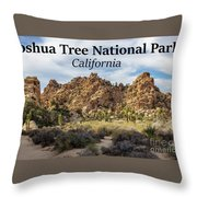Joshua Tree National Park Box Canyon, California Throw Pillow