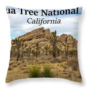 Joshua Tree National Park, California 03 Throw Pillow