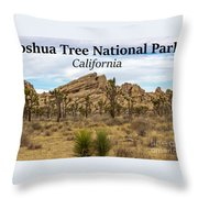 Joshua Tree National Park, California 03 Throw Pillow
