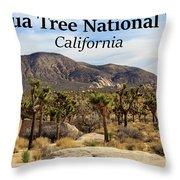 Joshua Tree National Park Valley, California Throw Pillow