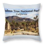 Joshua Tree National Park Valley, California Throw Pillow