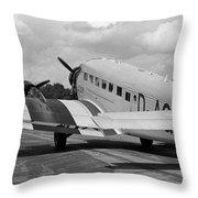 Ju-52 Taxing Throw Pillow