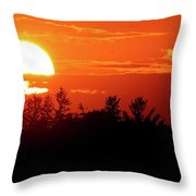 July 9-2018 Sunset Two  Throw Pillow