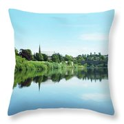 Junction Pool And View Of Tweed At Kelso Throw Pillow