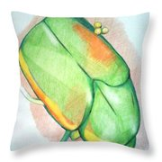 June Bug Throw Pillow