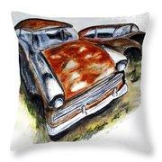 Junk Car No.10 Throw Pillow by Clyde J Kell
