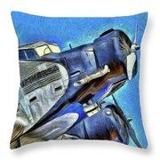 Junkers Ju 52 Art Throw Pillow