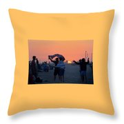 Just Another California Sunset Throw Pillow by Ron Cline