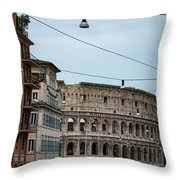 Just Down The Block Throw Pillow