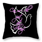 Just Get Along Throw Pillow by Judy Hall-Folde