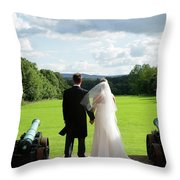 Just Married Looking To The Future Throw Pillow