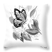 Just Think Of It Throw Pillow