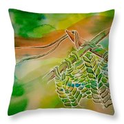 K2 P2 With A Double String Throw Pillow